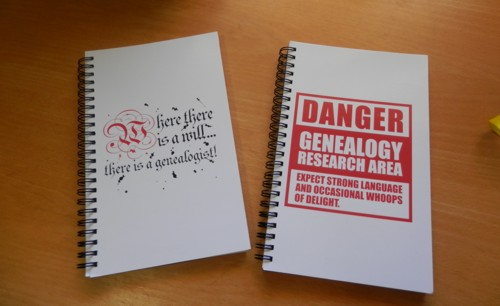 genealogy notebooks from CafePress