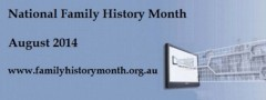 My National Family History Month Activities for 2014