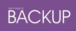Backups: Don't Forget Your Blog!